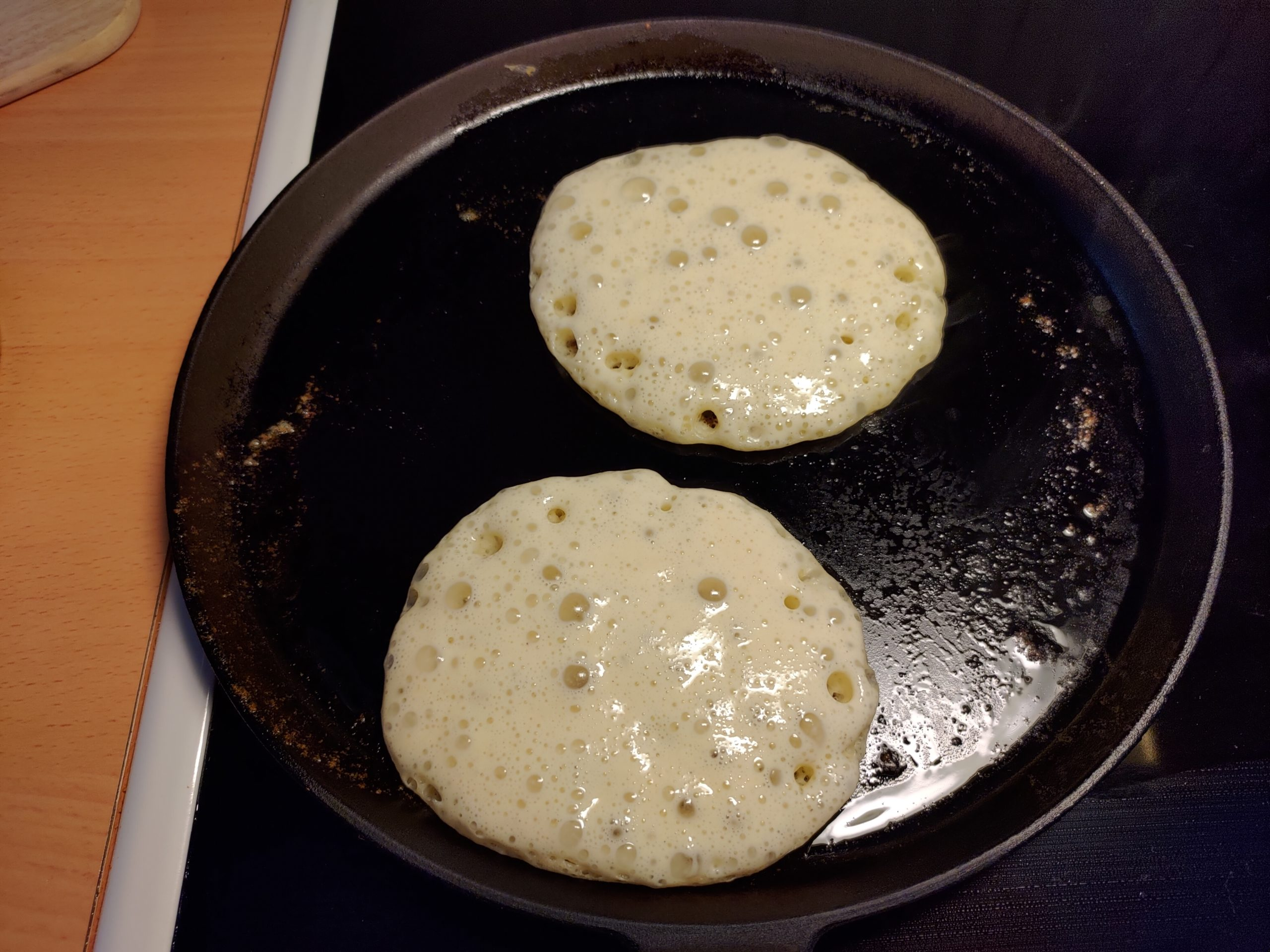 frying pancakes